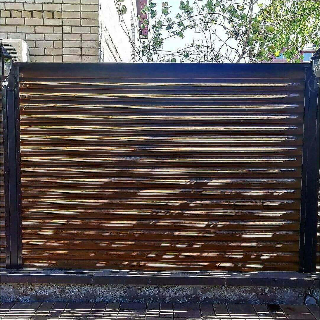Забор-жалюзи Орех фото3