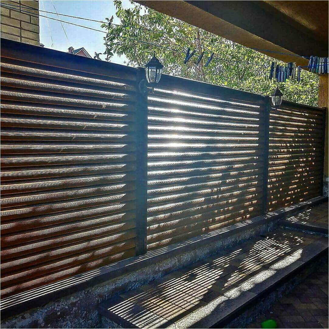 Забор-жалюзи Орех фото1