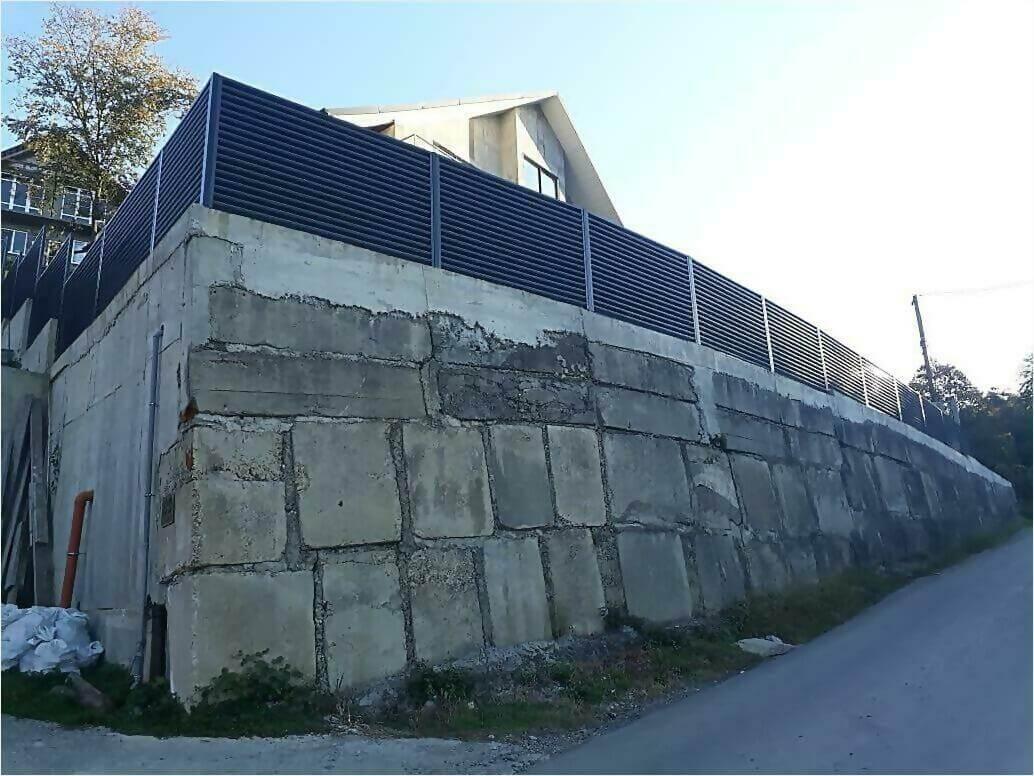 забор жалюзи Серый графит фото4