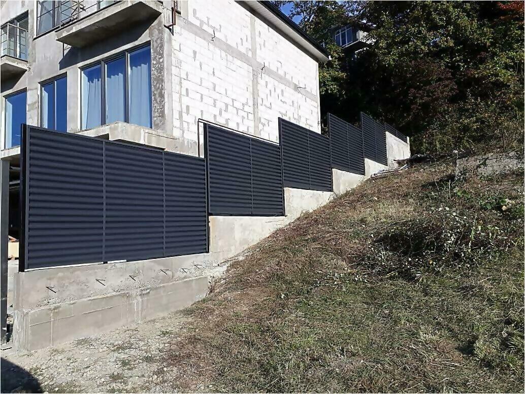 забор жалюзи Серый графит фото2