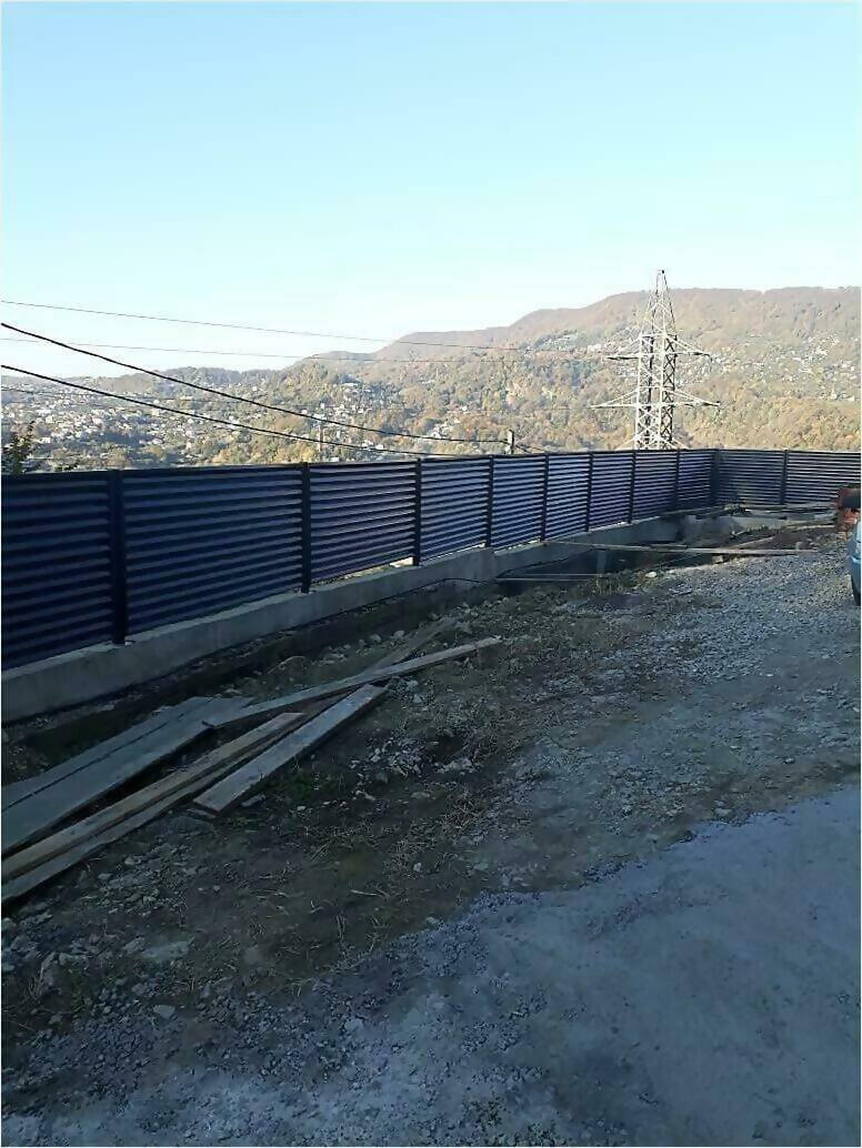 забор жалюзи Серый графит фото7
