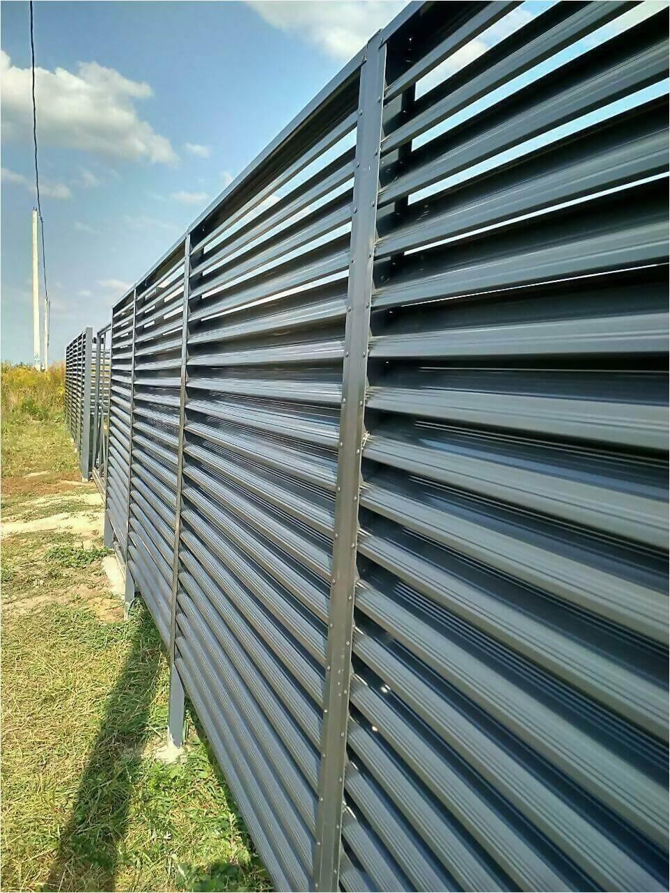 Забор-жалюзи серый графит фото4