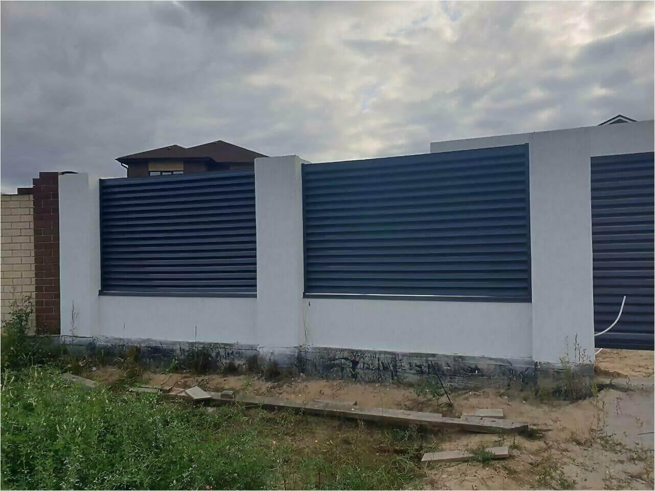 забор-жалюзи серый графит фото3