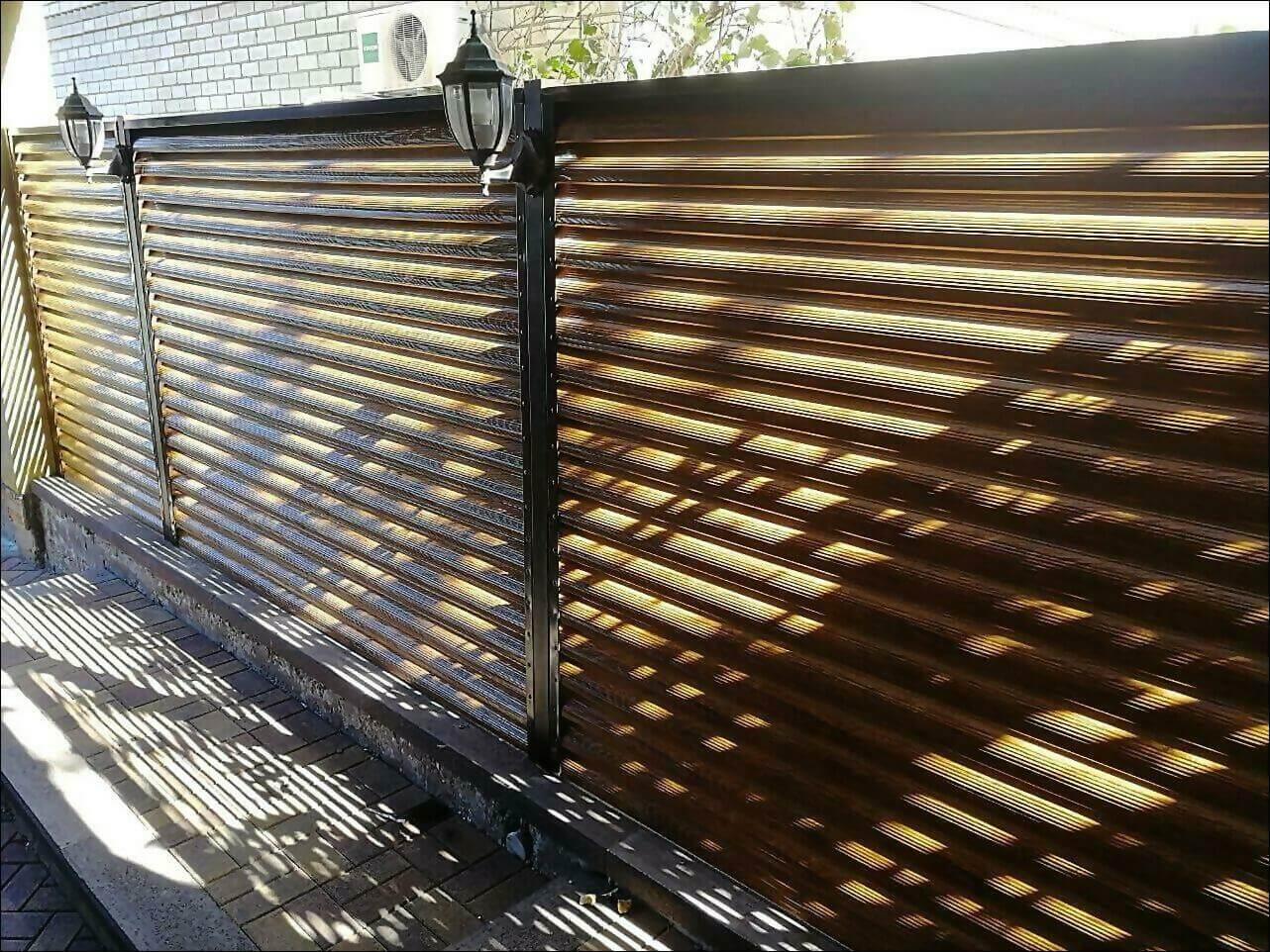 забор жалюзи золотое дерево фото6