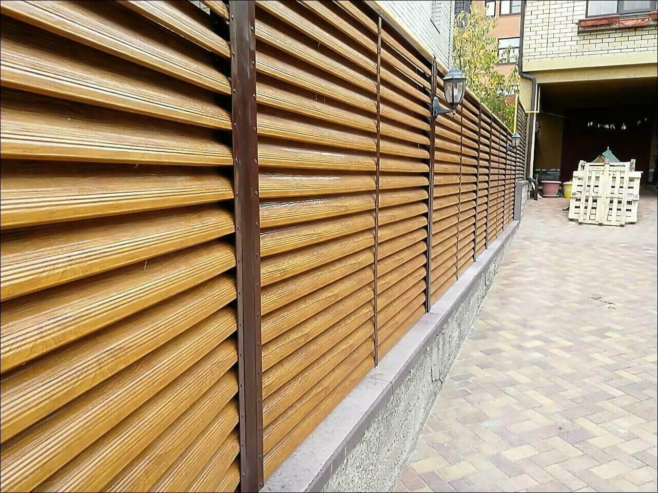 забор жалюзи золотое дерево фото5
