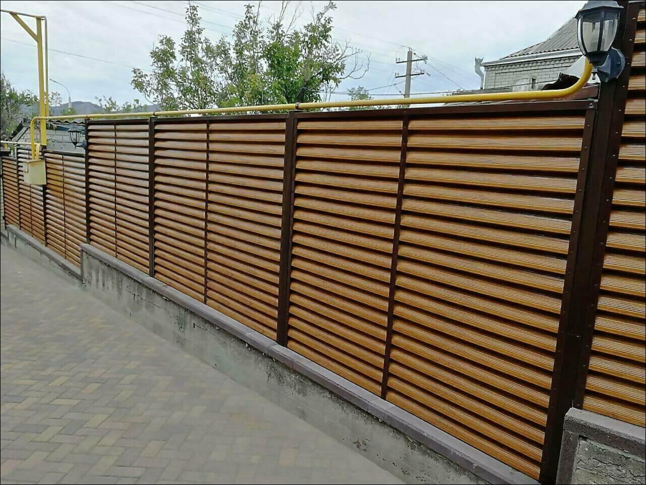 забор жалюзи золотое дерево фото3
