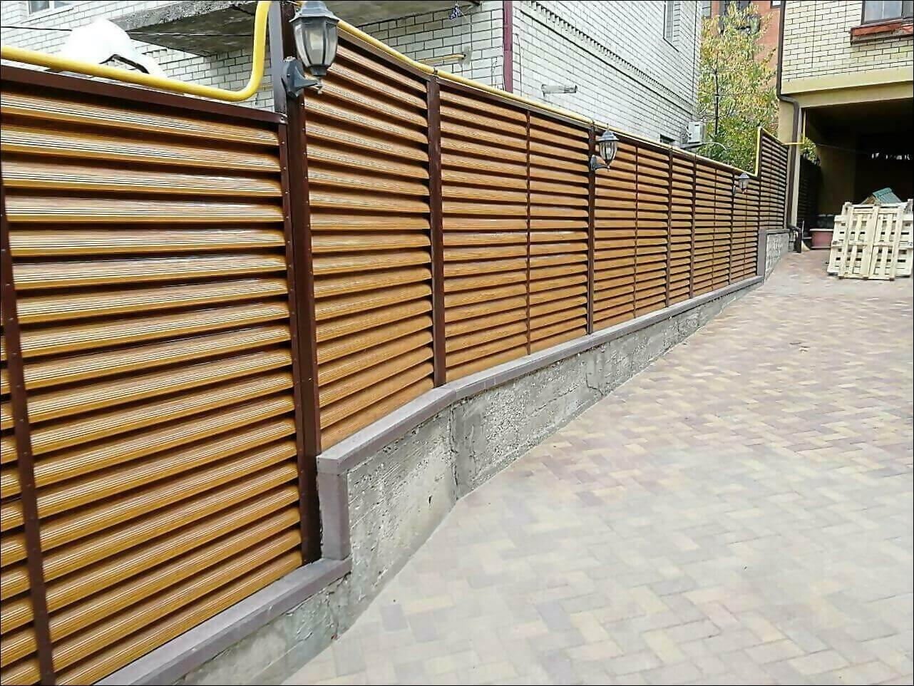 забор жалюзи золотое дерево фото1
