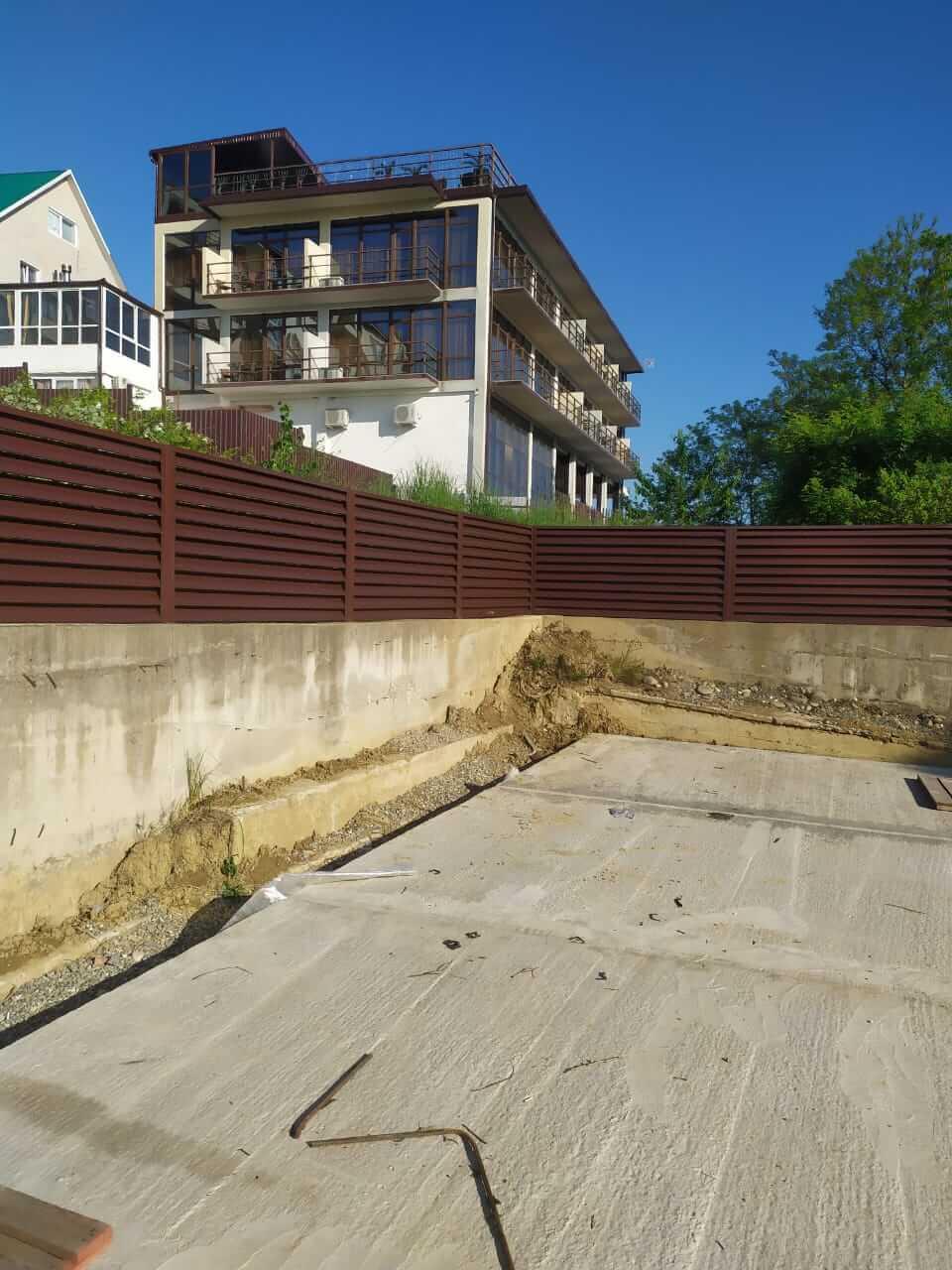 Забор-жалюзи 140м RAL8017 Шоколад фото5
