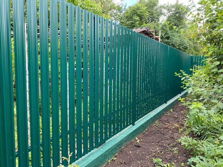 Забор из штакетника 60м Зеленый Мох фото2