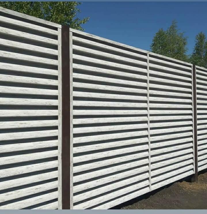 Забор-жалюзи 75м Беленый дуб фото5