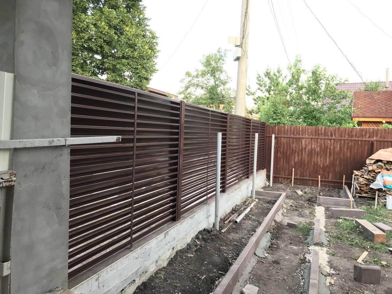 забор-жалюзи Шоколад двухсторонний фото2
