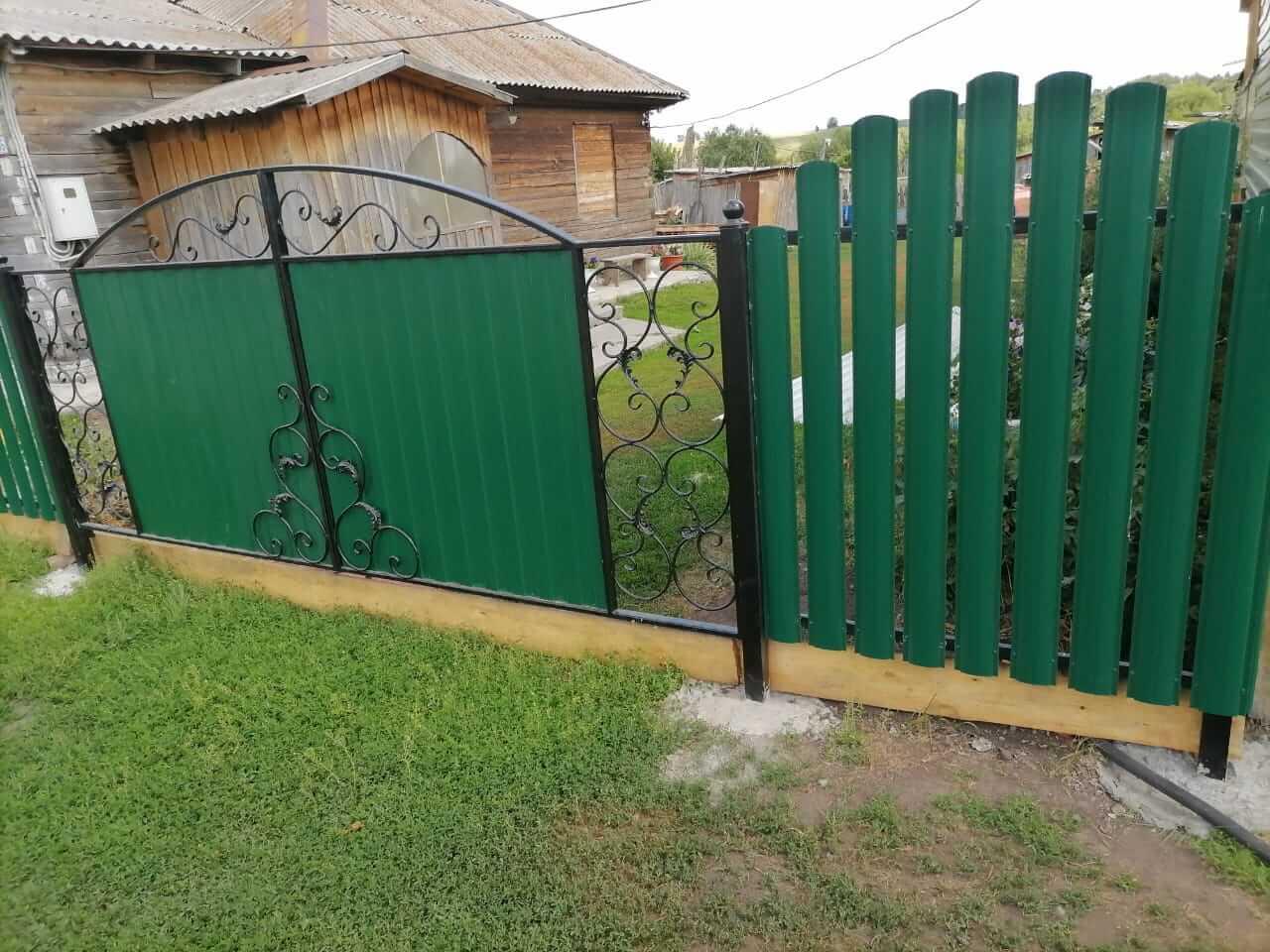 забор из штакетника Зеленый Мох фото7