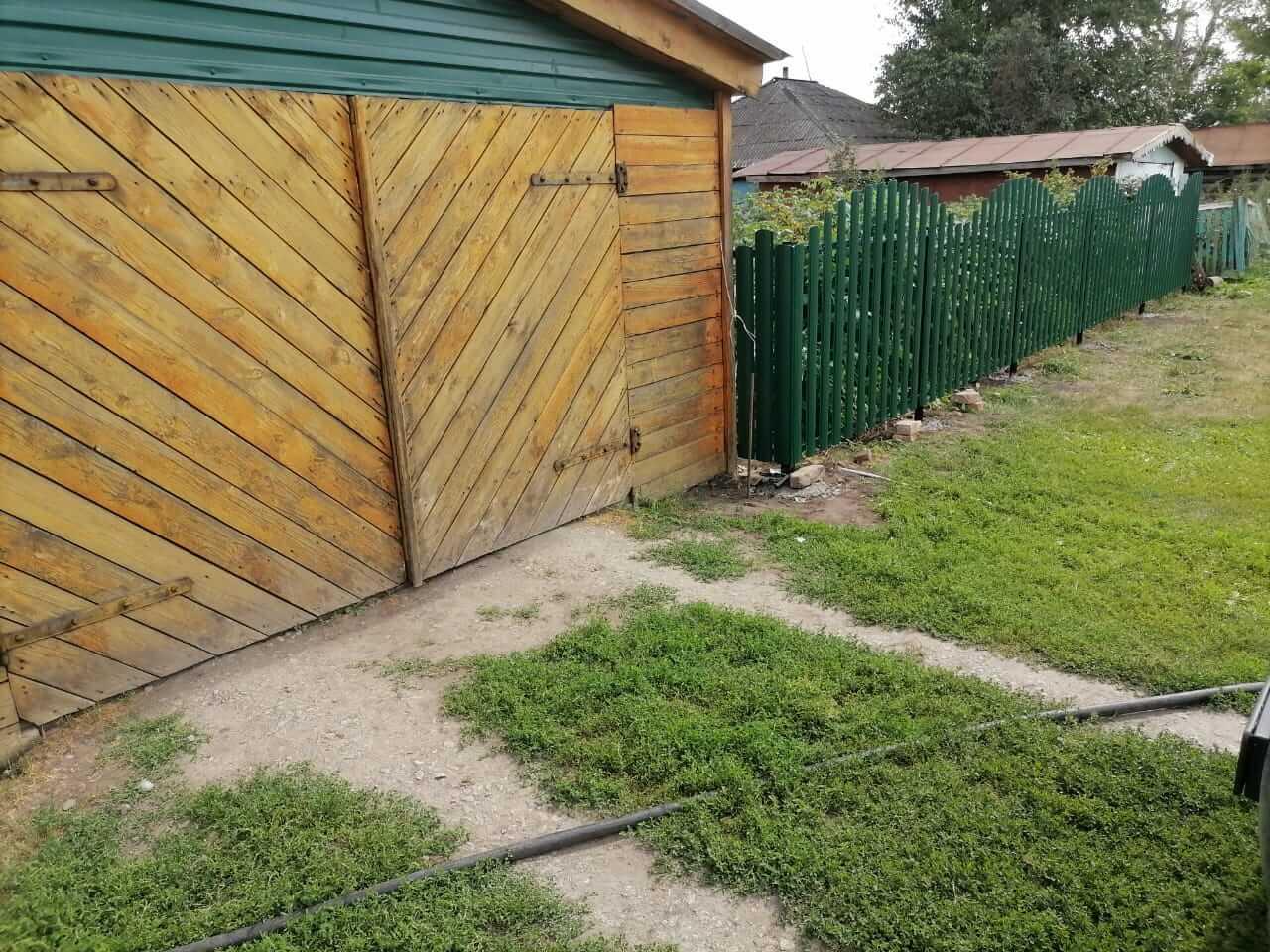 забор из штакетника Зеленый Мох фото4
