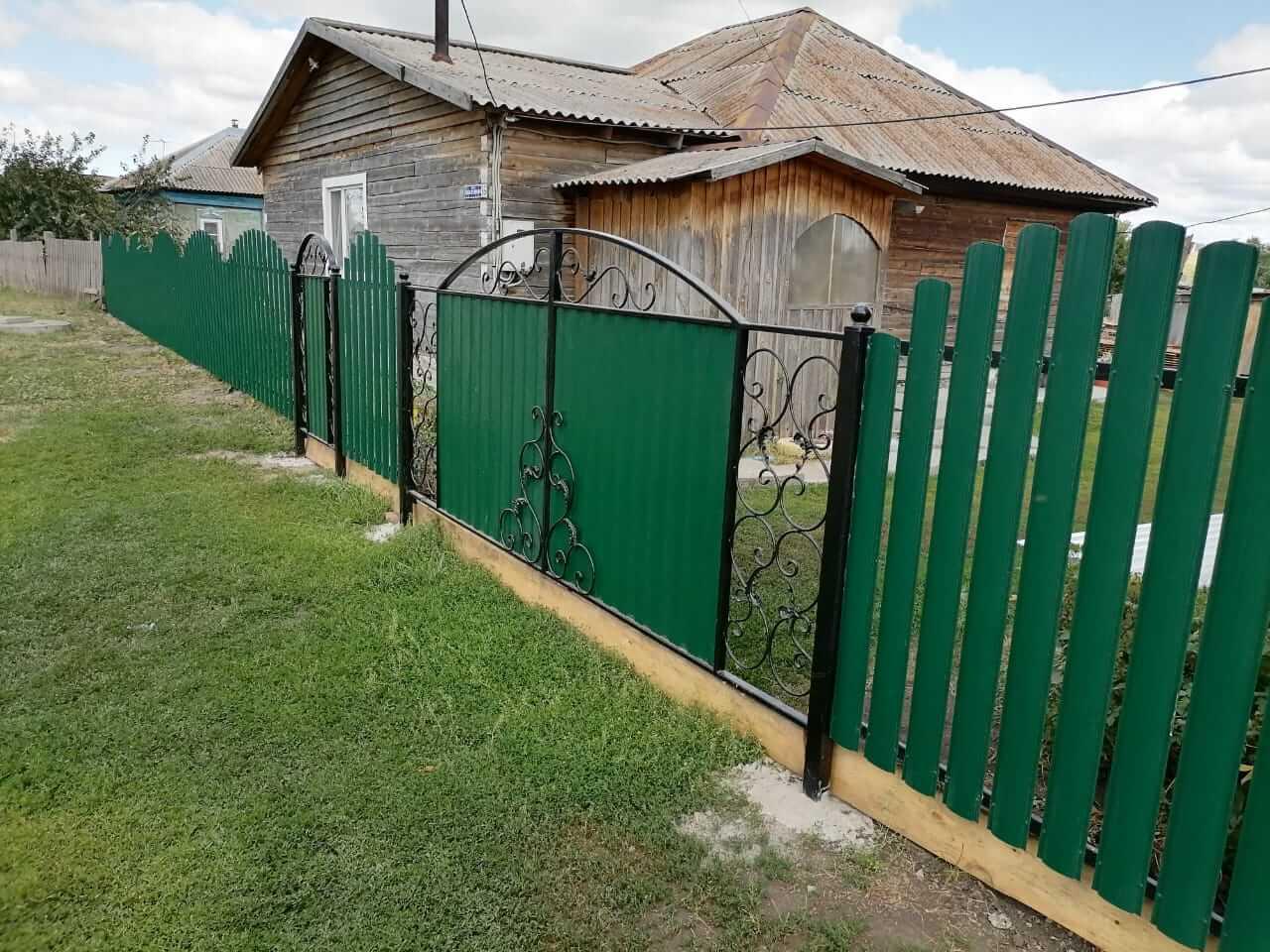 забор из штакетника Зеленый Мох фото3