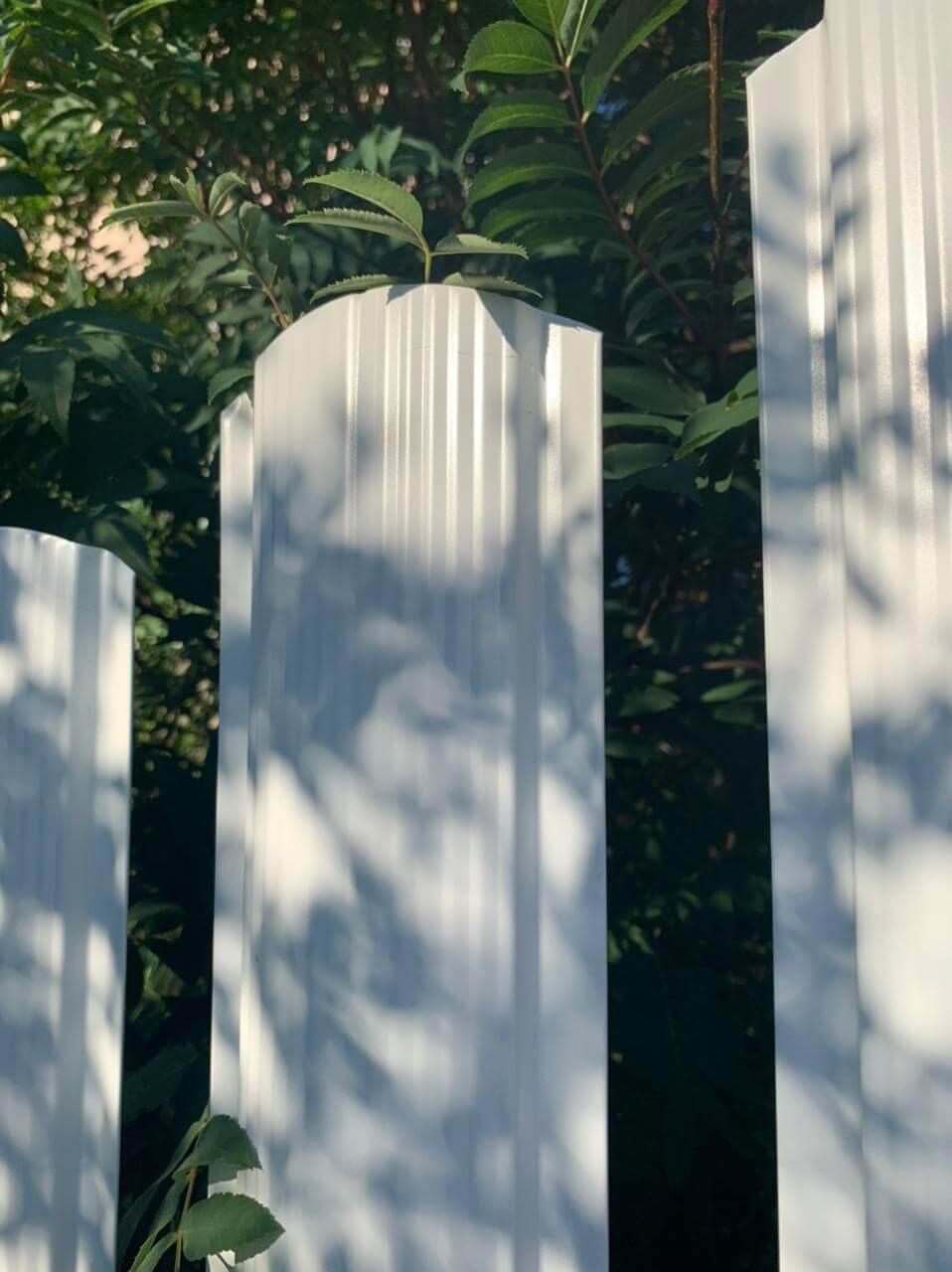 забор из штакетника белый фото7