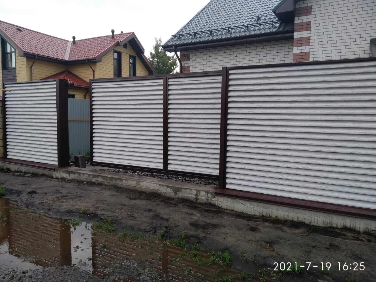 забор-жалюзи Беленый Дуб фото3