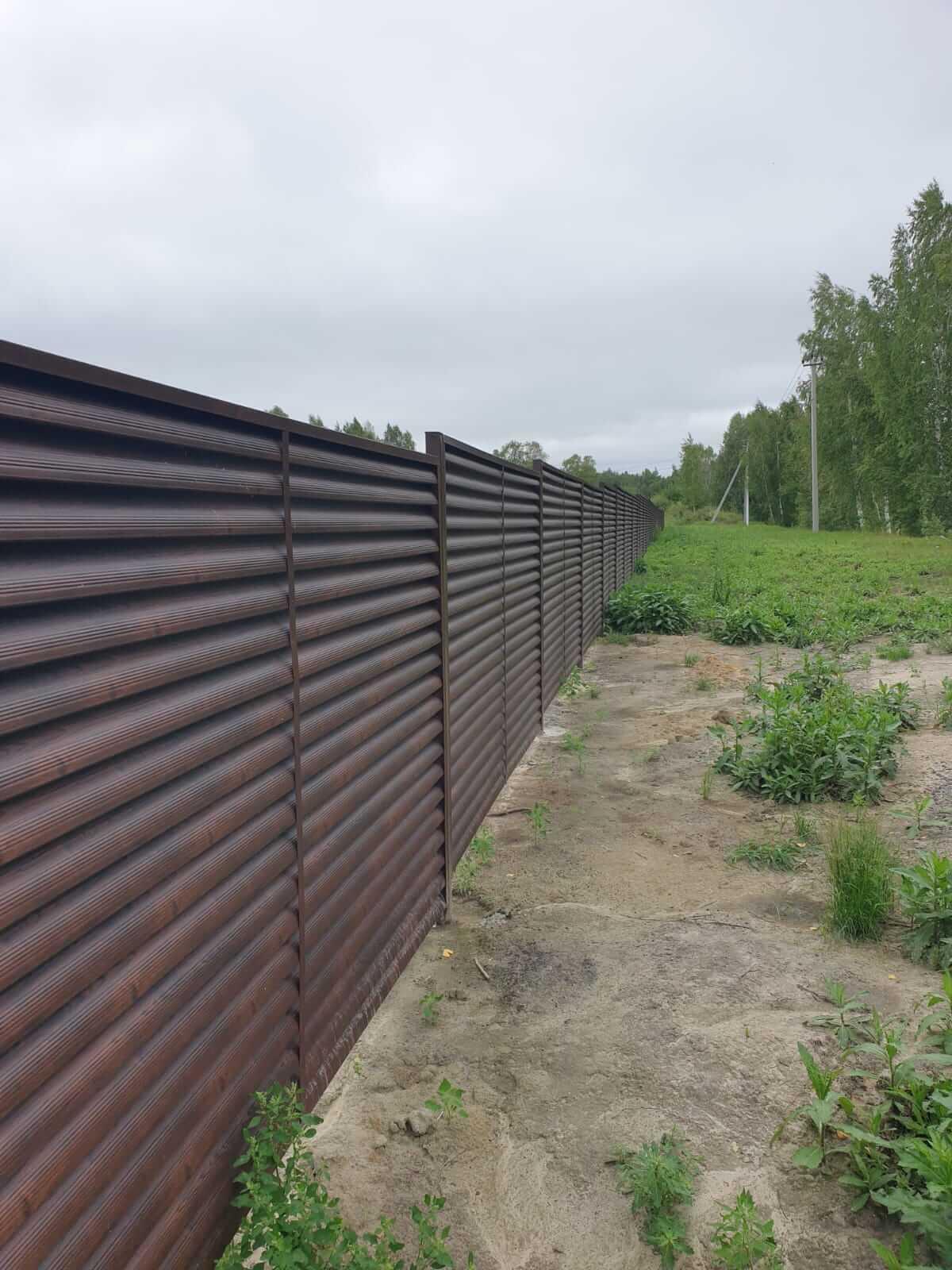 забор-жалюзи каштан красный фото7
