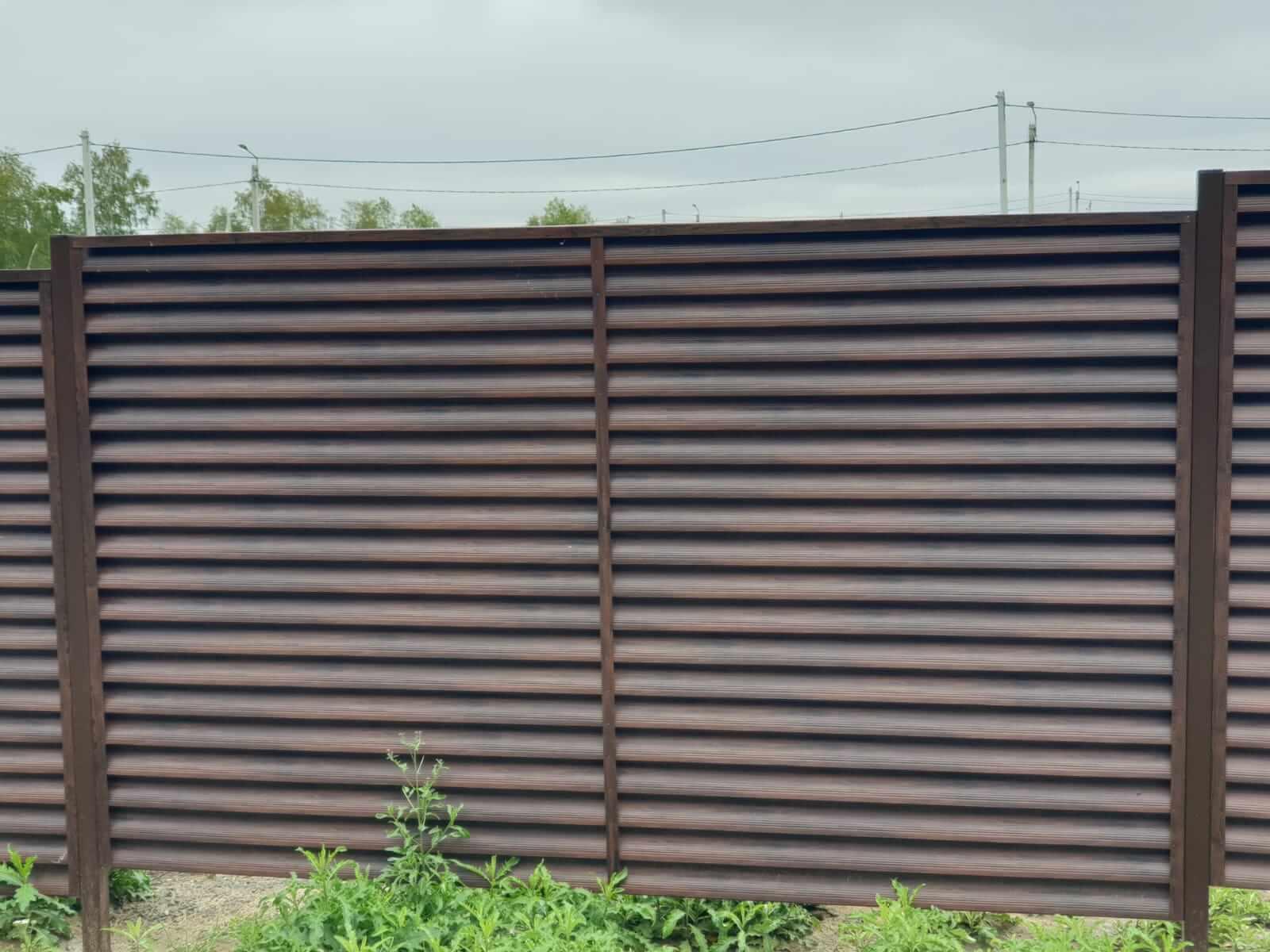 забор-жалюзи каштан красный фото5