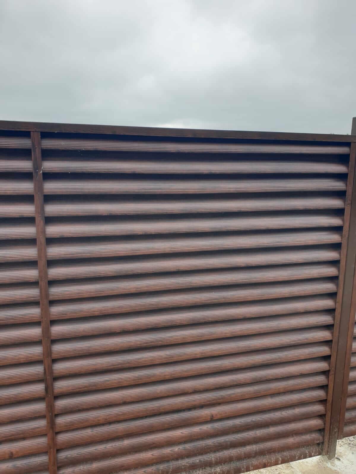 забор-жалюзи каштан красный фото3