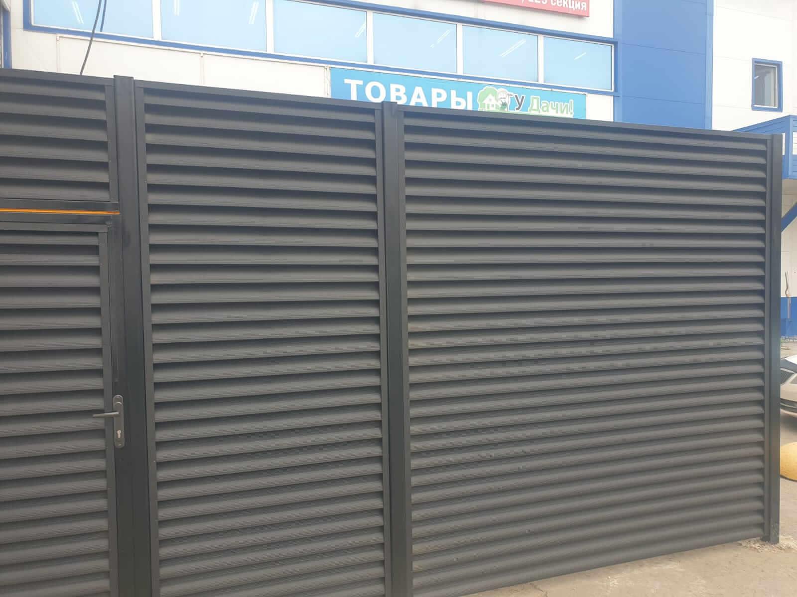 забор-жалюзи серый графит фото6