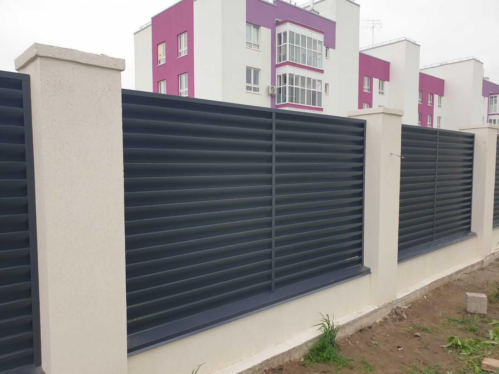забор-жалюзи серый графит фото7