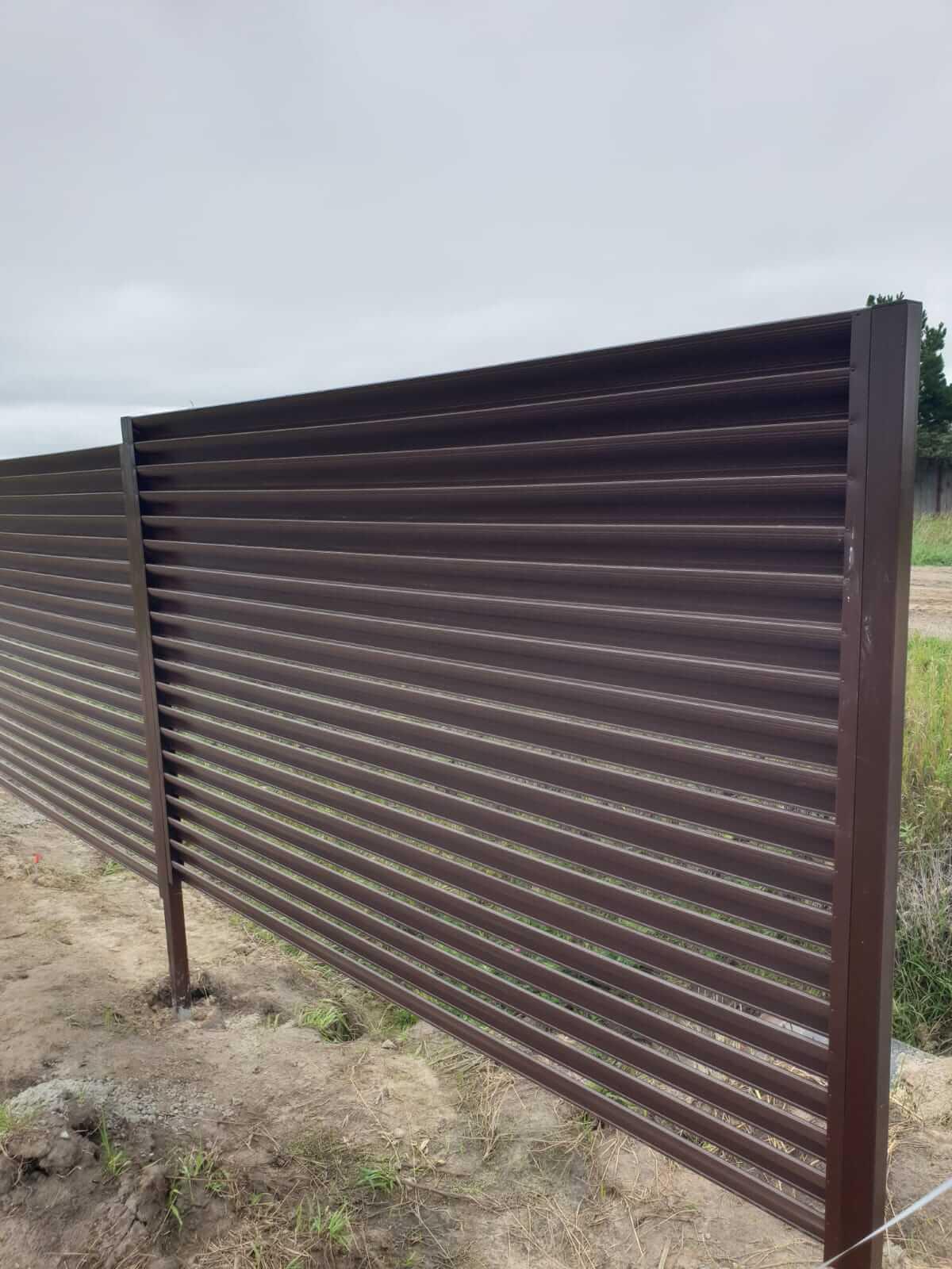 забор-жалюзи шоколад фото7