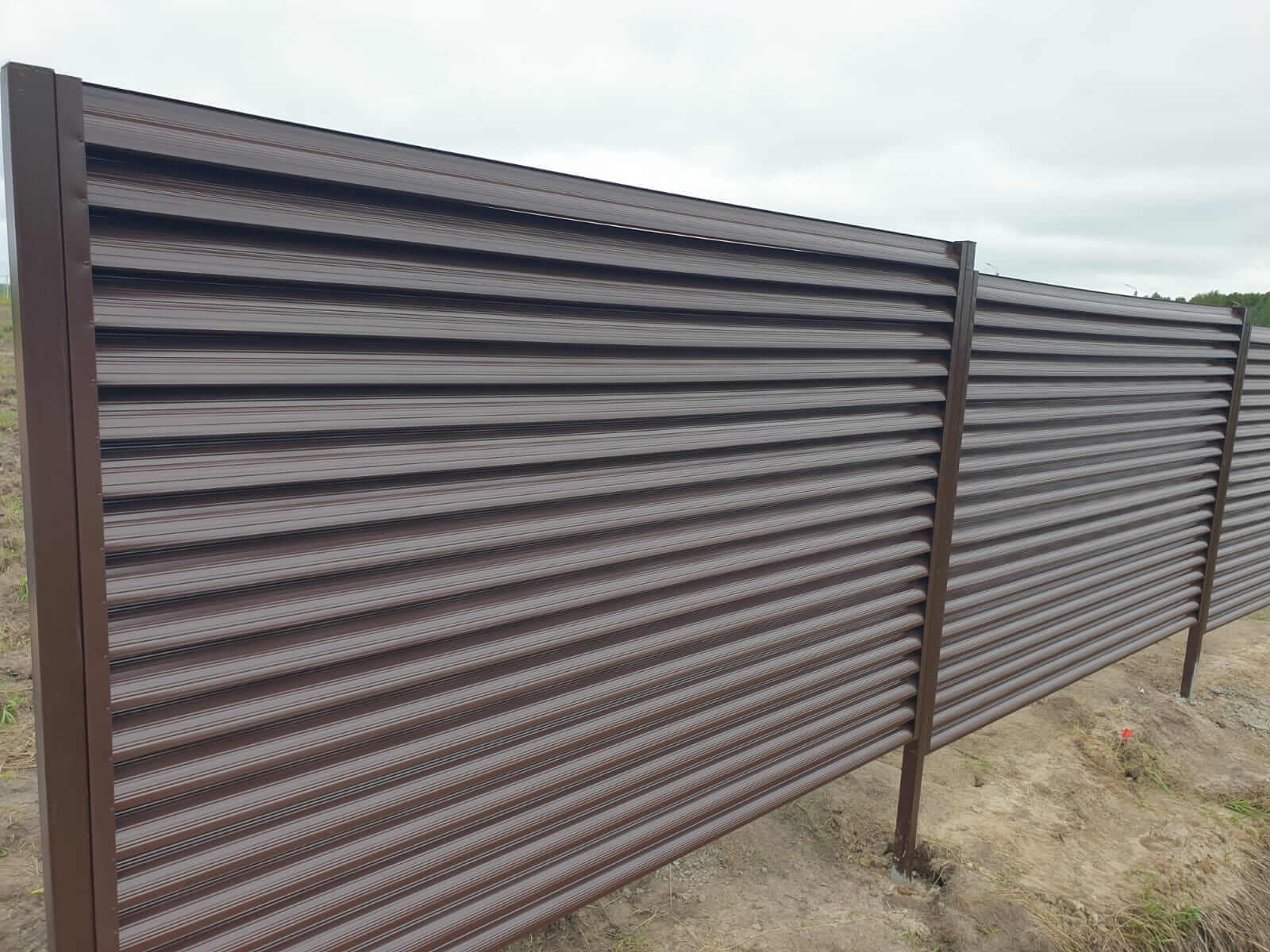 забор-жалюзи шоколад фото2