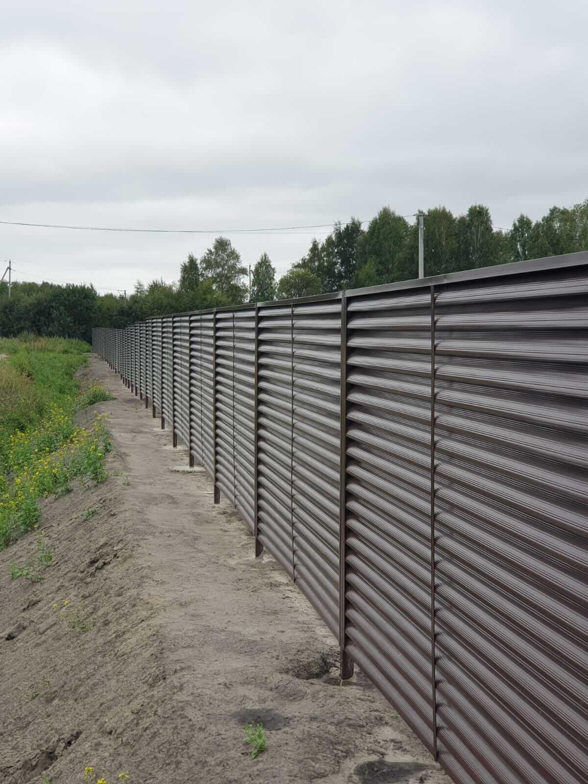 забор-жалюзи шоколад фото6