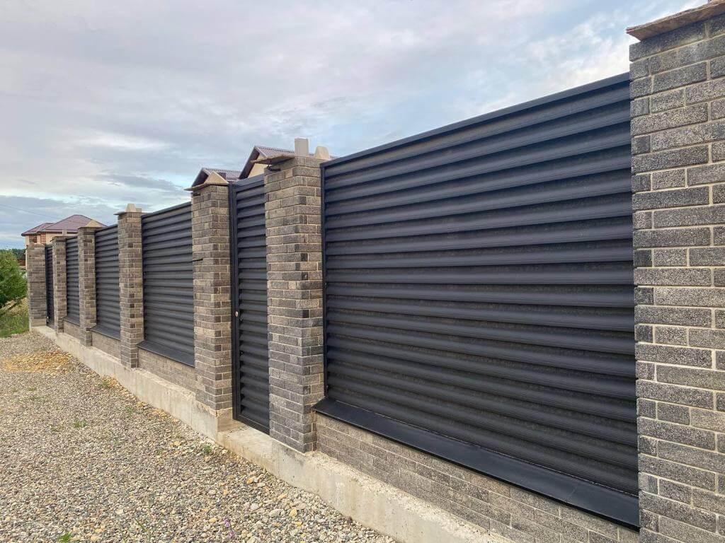 забор-жалюзи Черный Стальной Бархат фото2