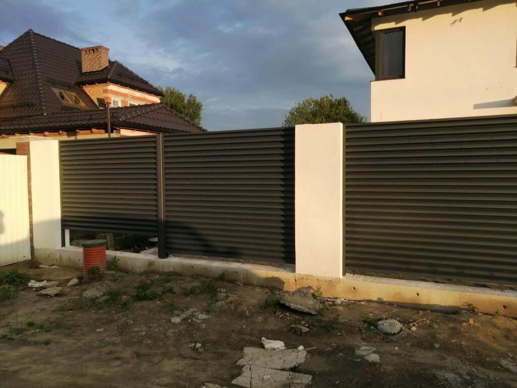 забор-жалюзи Черный Стальной Бархат фото4