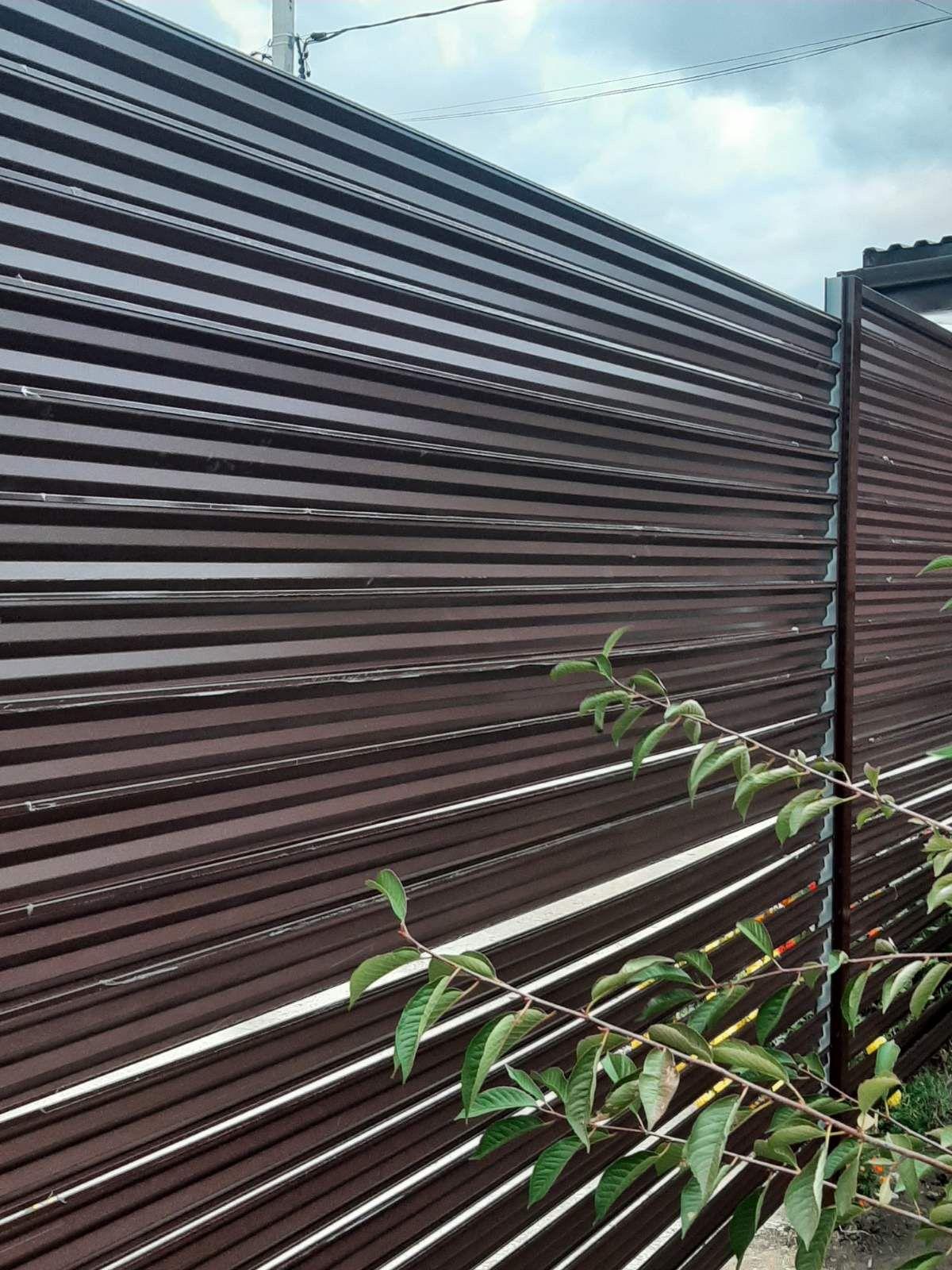 забор-жалюзи с ламелями Елочка шоколад фото7