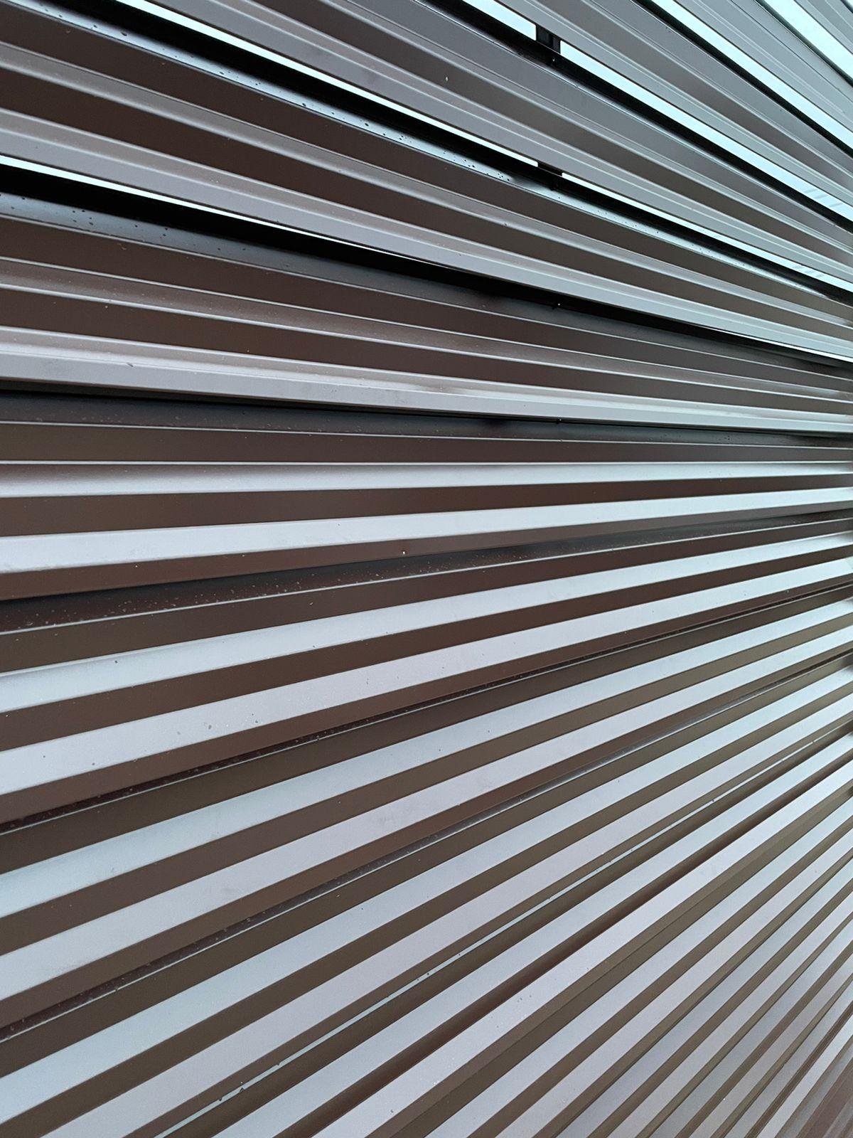 забор-жалюзи с ламелями Елочка шоколад фото8