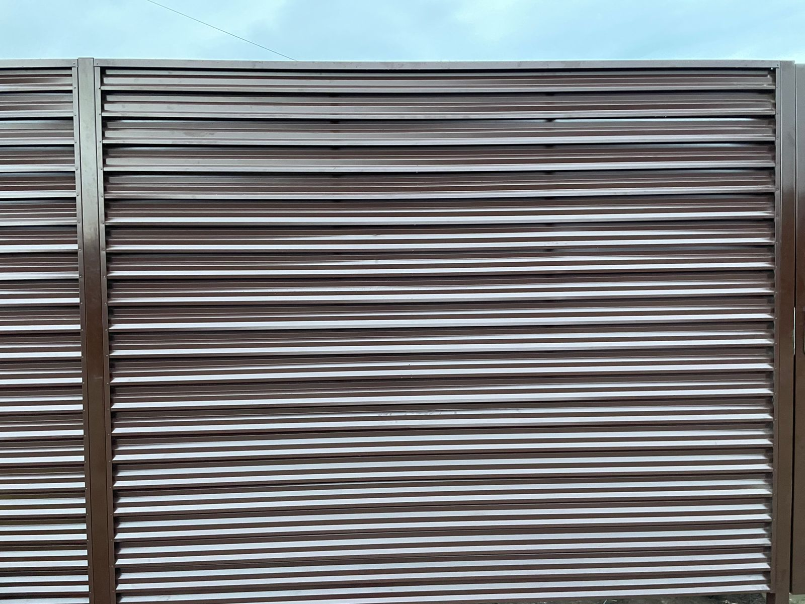 забор-жалюзи с ламелями Елочка шоколад фото6