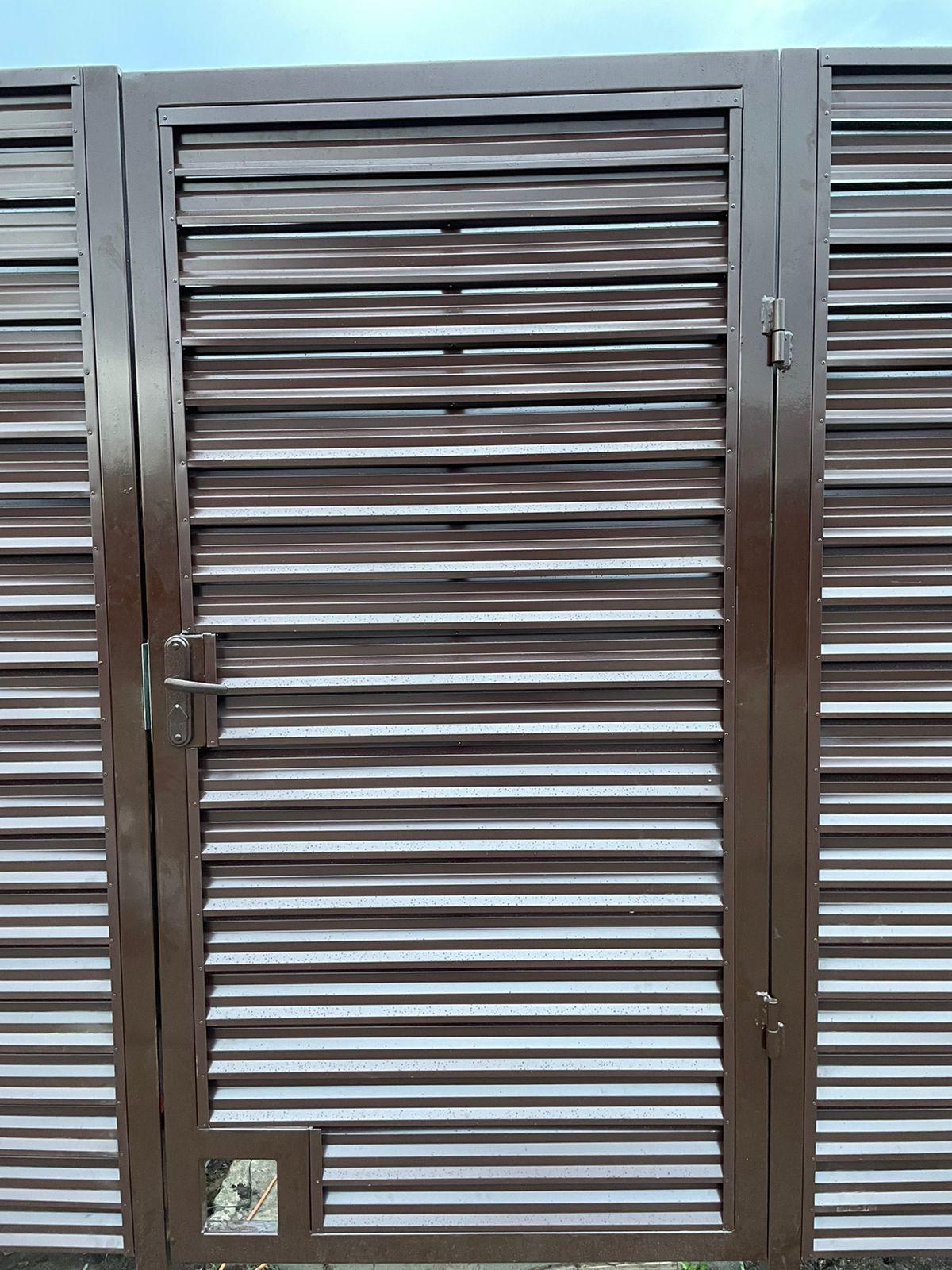 забор-жалюзи с ламелями Елочка шоколад фото3