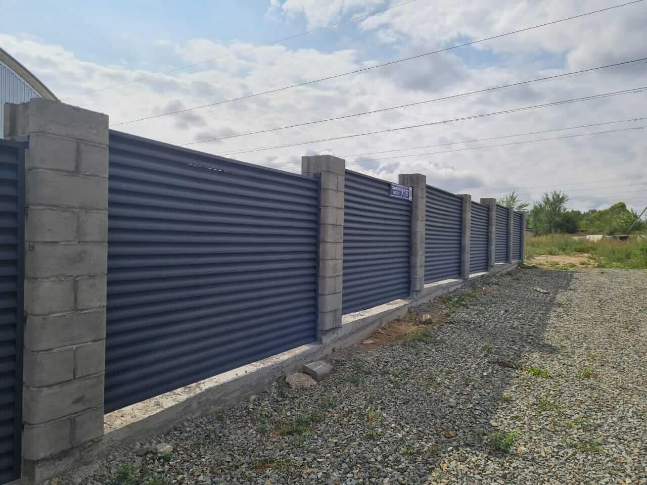 забор-жалюзи серый графит матовый фото5
