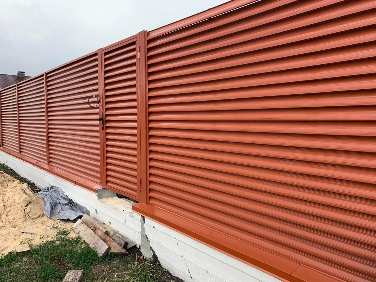 забор-жалюзи терракотовый фото7