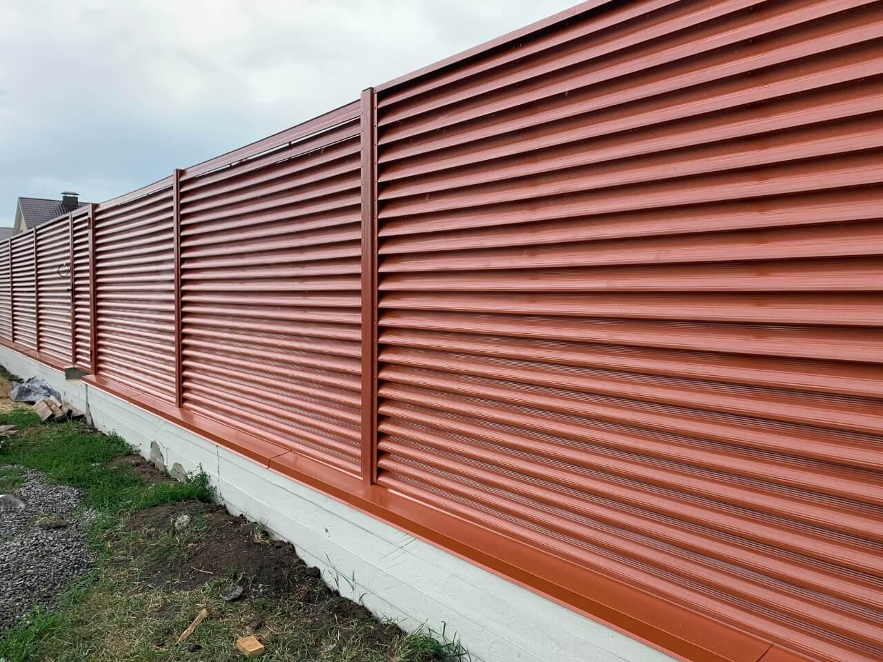 забор-жалюзи терракотовый фото5