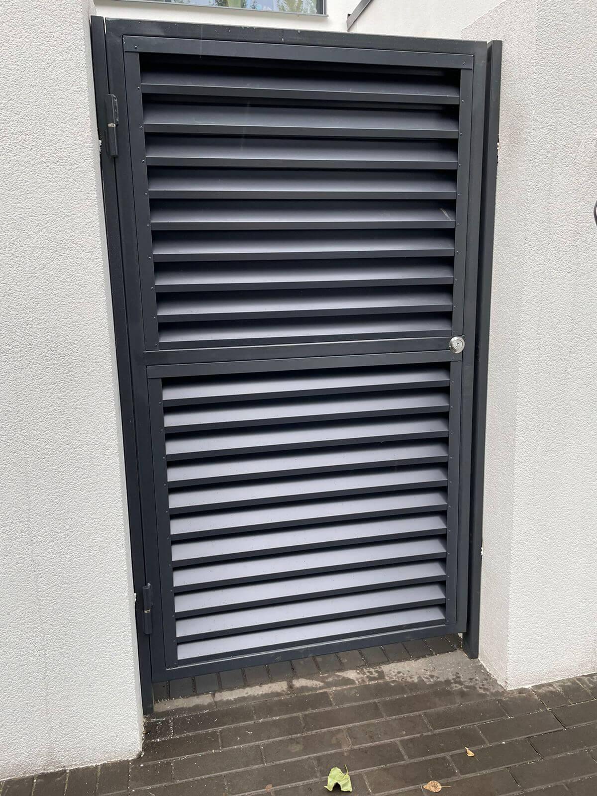 забор-жалюзи с ламелями ЭКО-Z Серый Графит двухсторонний фото6