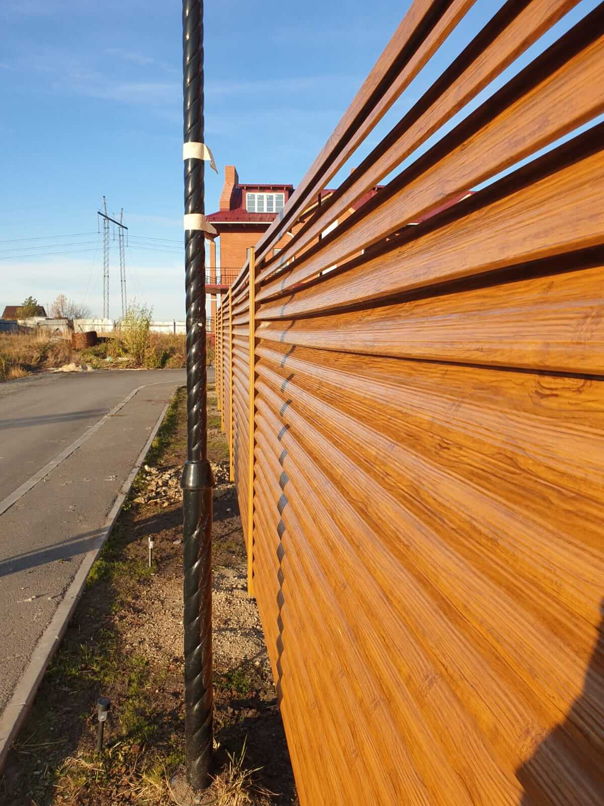 Забор-жалюзи 90м Орех фото12