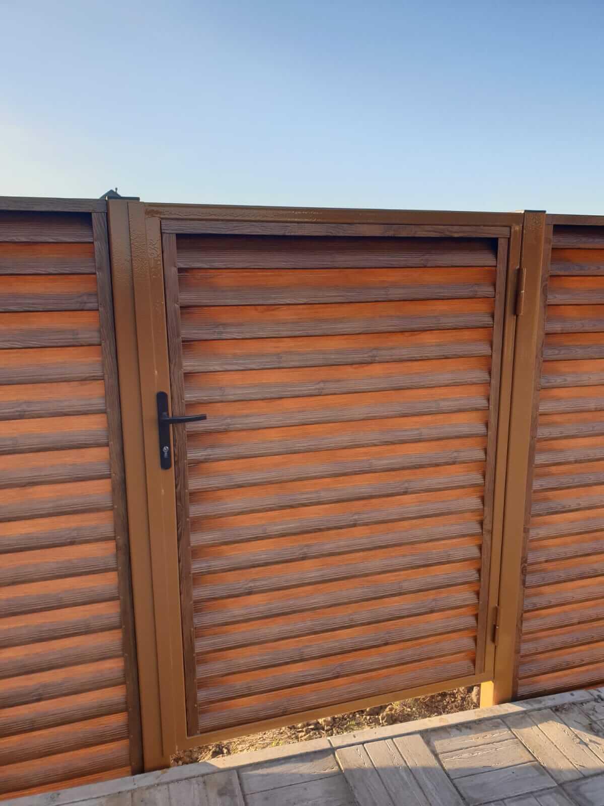 Забор-жалюзи 90м Орех фото6