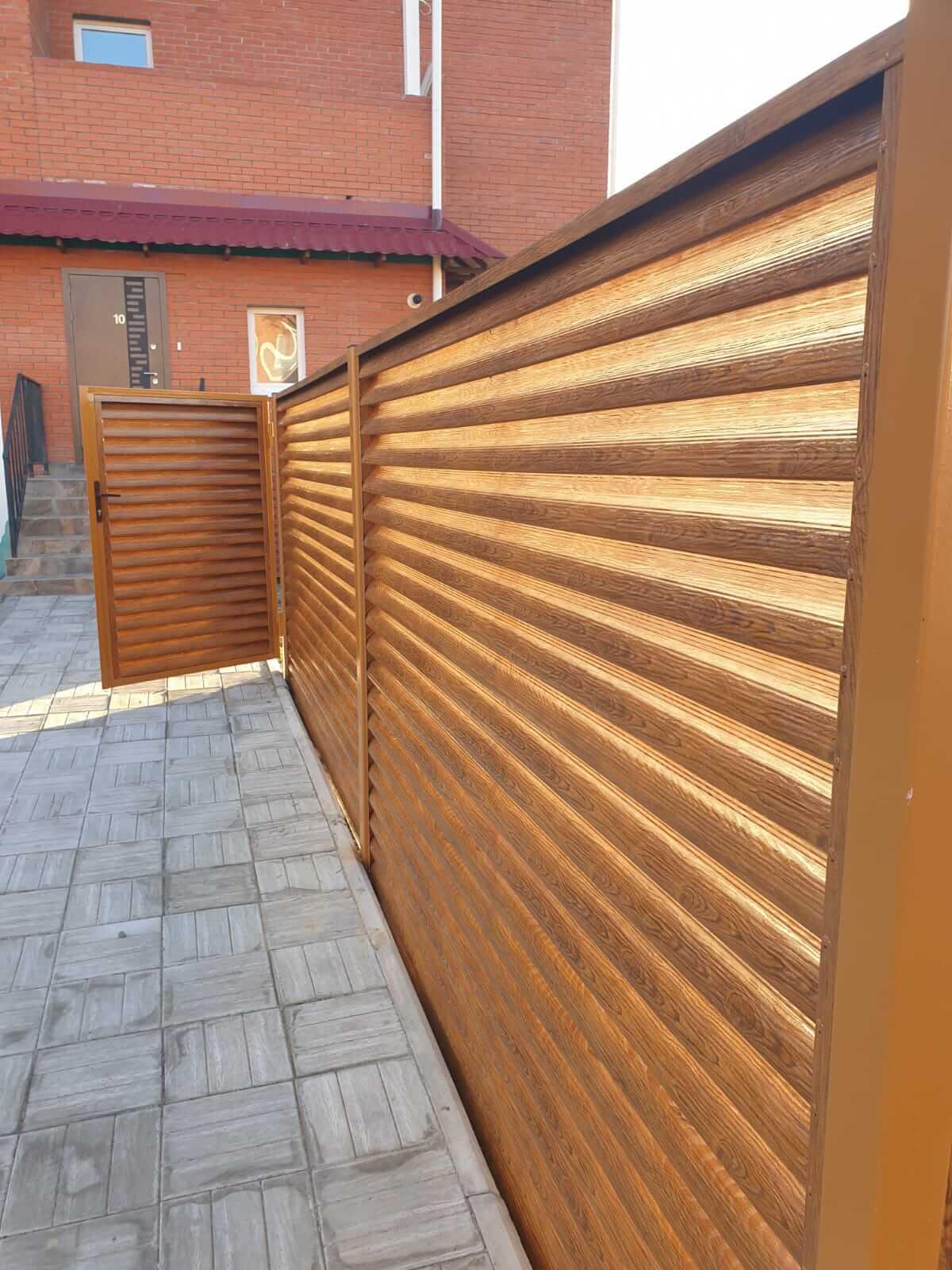 Забор-жалюзи 90м Орех фото5