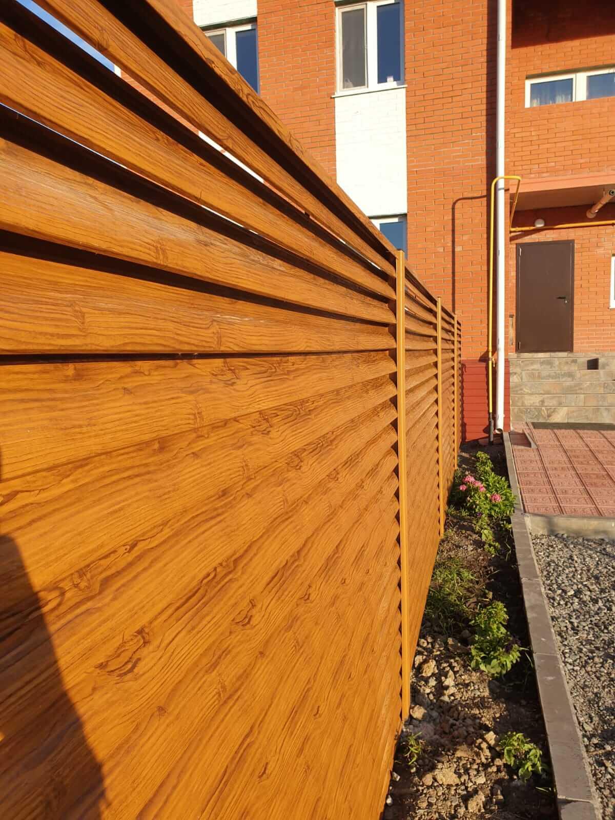 Забор-жалюзи 90м Орех фото2