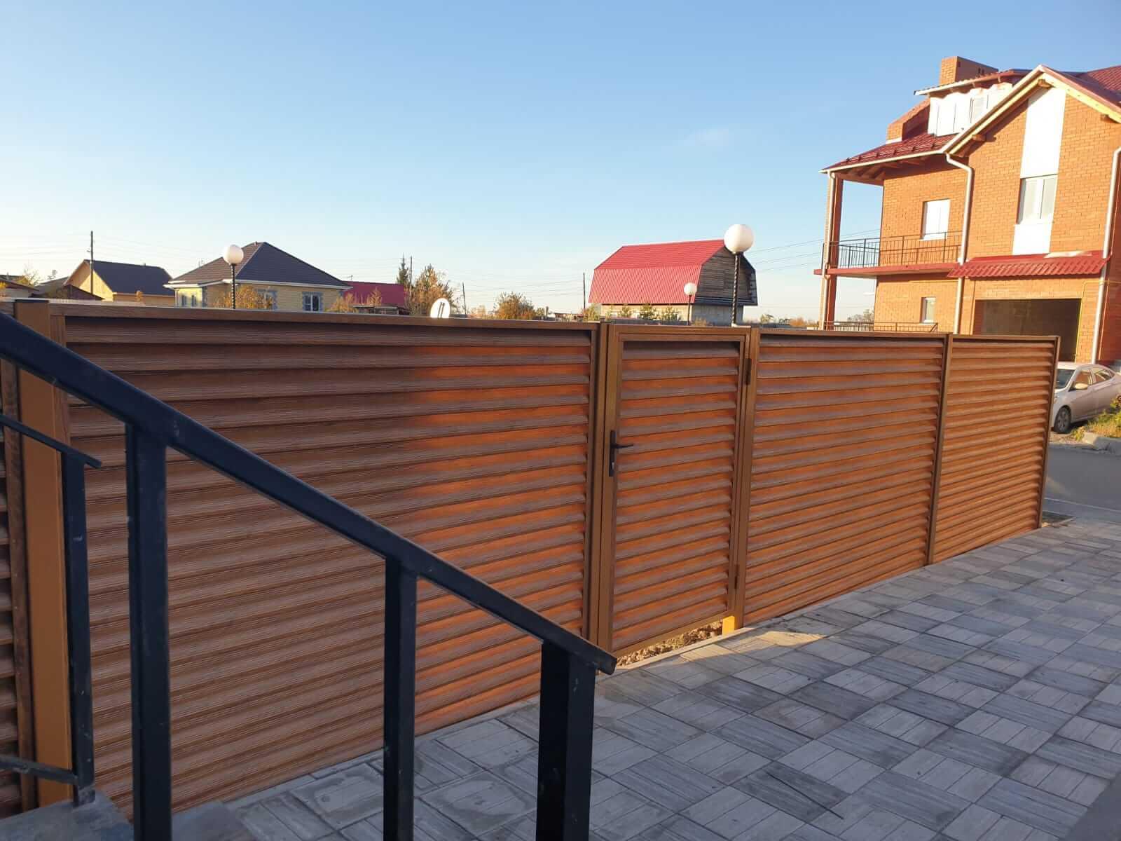Забор-жалюзи 90м Орех фото8